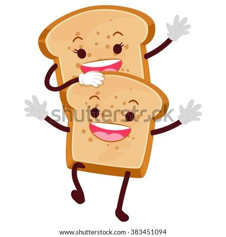 vector illustration of bread