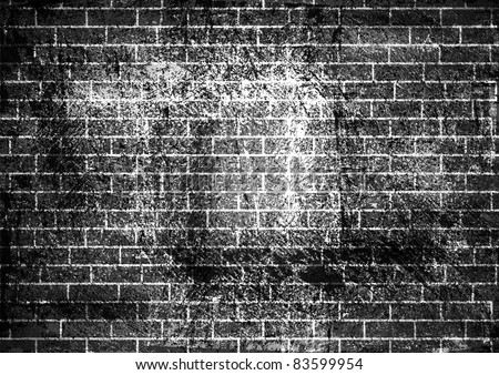 Vector illustration of brick wall background. Eps 10