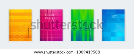 Vector illustration of bright color abstract pattern background with line gradient texture for minimal dynamic cover design. Poster, flyer, templat, magazine, web