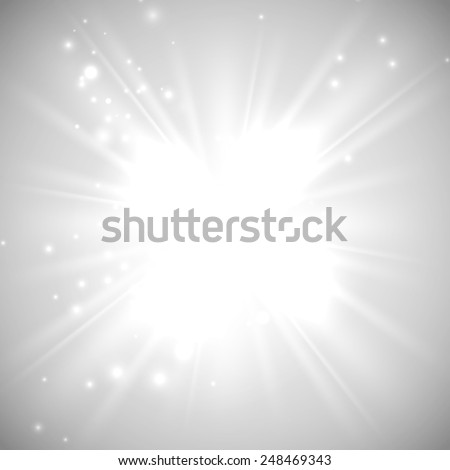 vector illustration of bright flash, explosion or burst on the white background