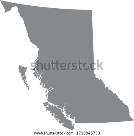vector illustration of British Columbia map Foto stock ©