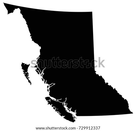 vector illustration of British Columbia map Stock foto ©