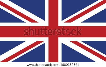 vector illustration of British flag
