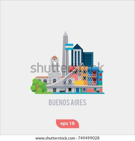 vector illustration of buenos