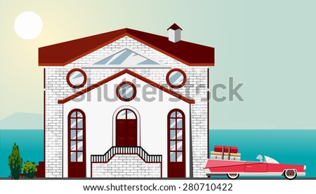 vector illustration of building