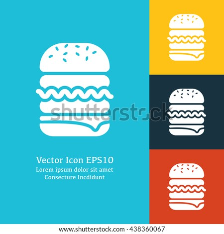 Vector illustration of burger icon