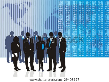 Vector illustration of business people and entrepreneurs