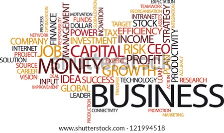 Vector Illustration of Business Word Cloud