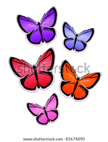 vector illustration of butterflies