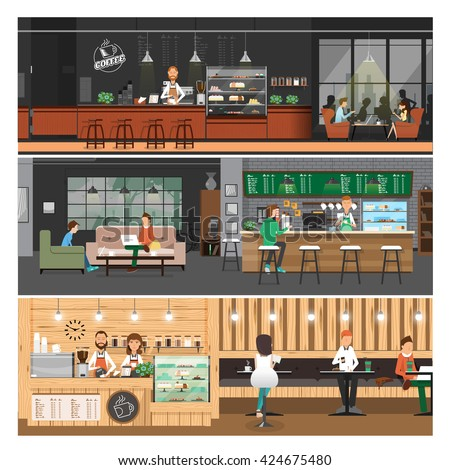 vector illustration of cafe