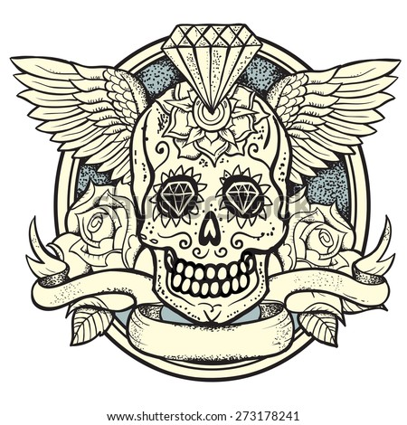 vector illustration of calavera