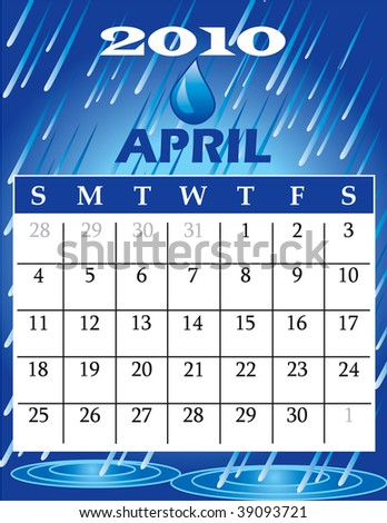 Vector Illustration of 2010 Calendar with a monthly, I have all 12 months designed separately or all 12 months in a single design.