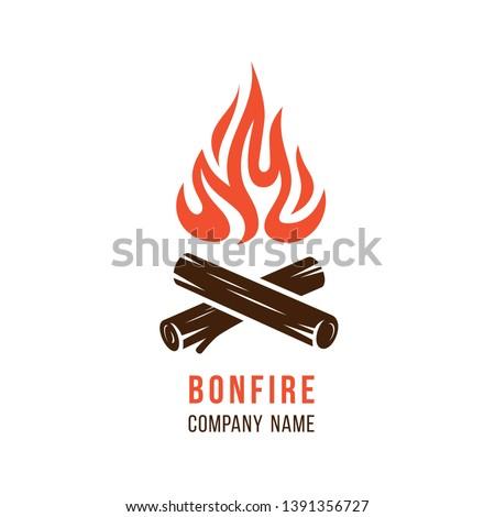 vector illustration of campfire