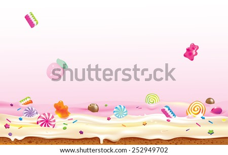 vector illustration of candies