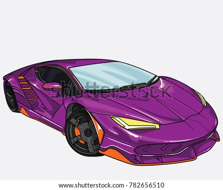 Stock Photo vector illustration of car