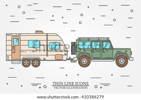 vector illustration of car and