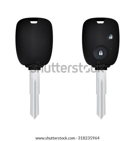 vector illustration of car keys