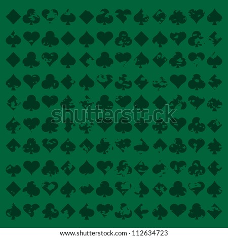 Vector illustration of card suits background.