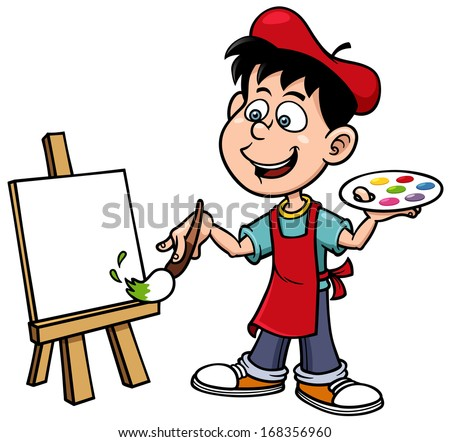 vector illustration of cartoon