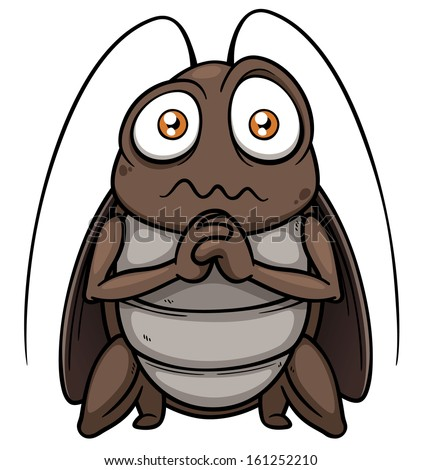 Shutterstock Vector illustration of cartoon cockroach