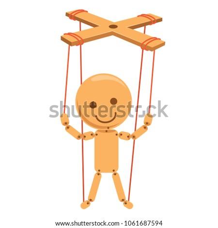 Vector Illustration Of Cartoon Puppet Stockfoto ©
