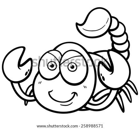 vector illustration of cartoon