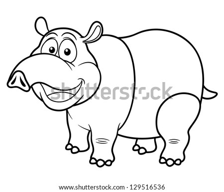 tapir coloring pages for kids - photo#21
