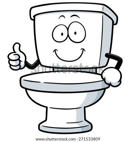 Vector Illustration of Cartoon toilet