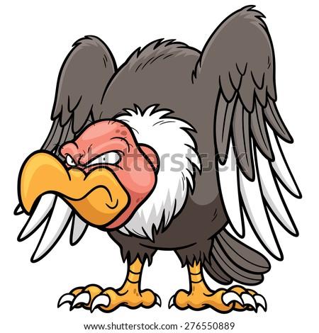 Vector illustration of Cartoon vulture