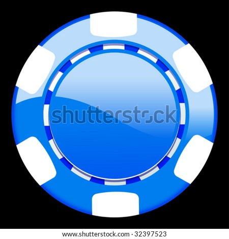vector illustration of casino chip - stock vector