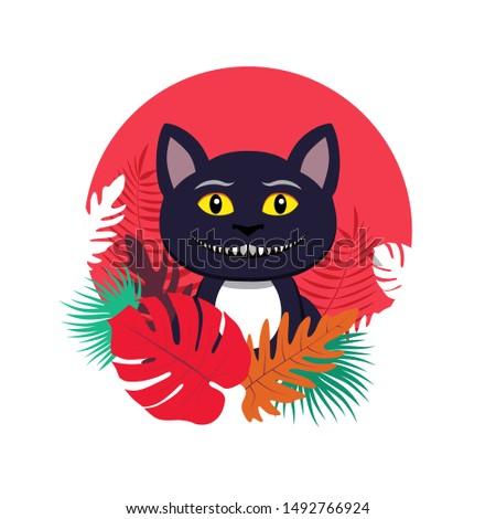vector illustration of cat