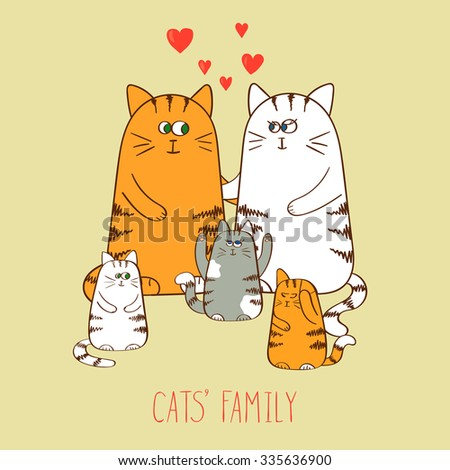 vector illustration of cats