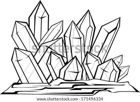 vector illustration of cave