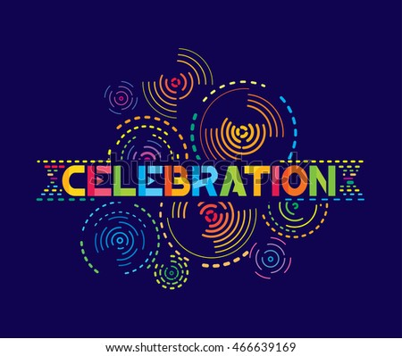 Vector illustration of celebration with fireworks background.