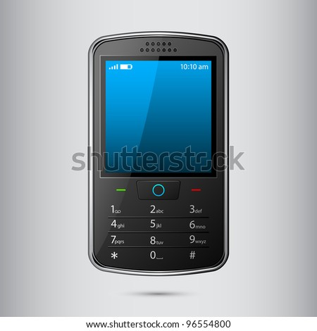 vector illustration of cellphone against abstract background