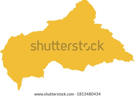 vector illustration of Central African Republic map Сток-фото ©