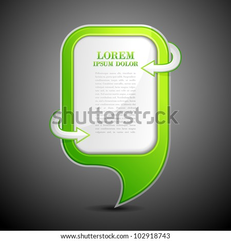 vector illustration of chat bubble with copy space