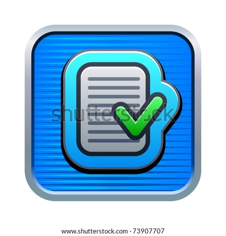 Vector illustration of check list icon