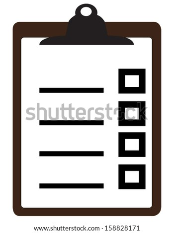 Vector illustration of check list on clipboard