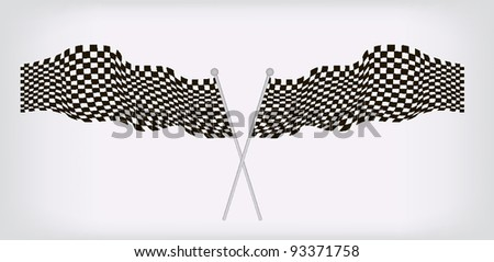 vector illustration of checkered race flag