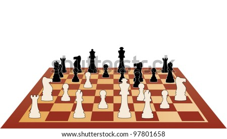 vector illustration of chess game