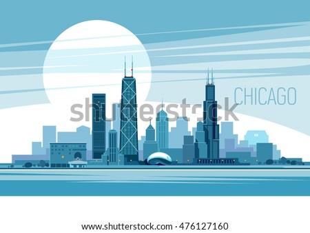 vector illustration of chicago
