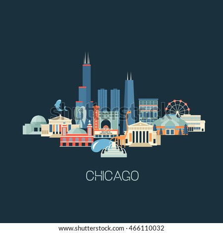 vector illustration of chicago