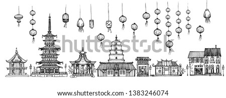 vector illustration of chinese