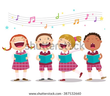vector illustration of choir