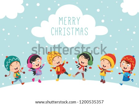 Vector Illustration Of Christmas