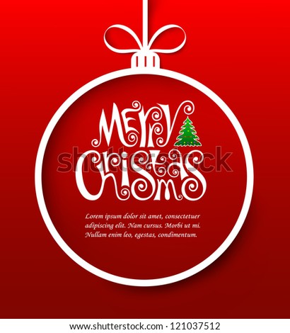 Vector illustration of christmas greeting card