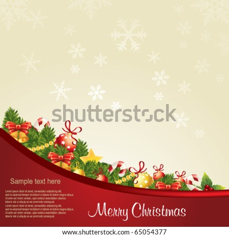 Vector Illustration of Christmas Greeting Card.