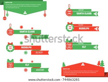 Vector Illustration of Christmas Lower Thirds for Design, Website, Background, Banner. Titles Element Template