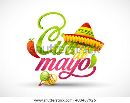 vector illustration of cinco de